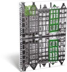 13085 - Füzet spirál A/5 kockás GEO City Amsterdam 17258206