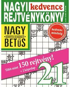 CSOSCH KIADÓ - Nagyi Kedvence Rejtvénykönyv 21.