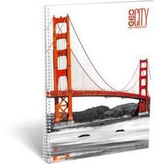 13073 - Füzet spirál A/4 kockás GEO City San Francisco 17258407