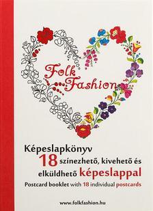 - Folk Fashion képeslapkönyv - 18 színezhető, kivehető és elküldhető képeslappal