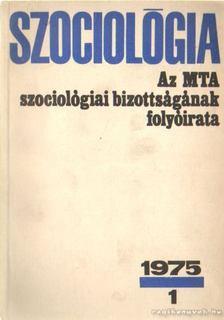 Szociológia 1975/1 [antikvár]