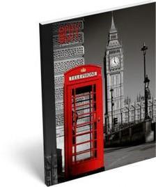 5850 - Notesz papírfedeles A/7 Geo City London 15264901
