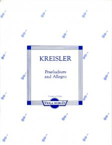 KREISLER, FRITZ - PRAELUDIUM AND ALLEGRO FOR VIOLA AND PIANO (ALAN H.ARNOLD, ASCAP)