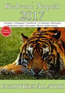 CSOSCH KIADÓ - Kedvenc Naptár 2017 - Egzotikus állatok