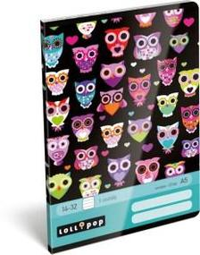 12929 - Füzet tűzött A/5 1.o. Lollipop Dark Owl 17510422