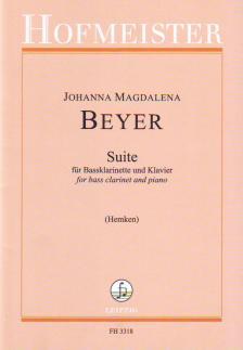BEYER, JOHANNA MAGDALENA - SUITE FÜR BASSKLARINETTE UND KLAVIER (HEMKEN)