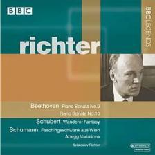"""BEETHOVEN-SCHUBERT - PIANO SONATAS NO.9,10; """"WANDERER"""" FANT. CD RICHTER"""