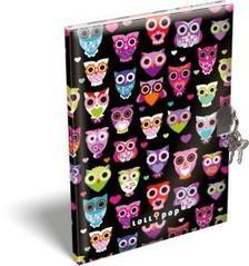 13371 - Emlékkönyv szivacsos A/5 Lollipop Dark Owl 17295622