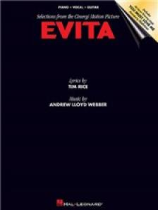 WEBBER, - EVITA. SELECTIONS FROM THE CINERGI MOTION PICTURE. PIANO / VOCAL / GUITAR