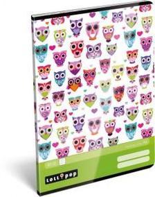12915 - Füzet tűzött A/4 kockás Lollipop Light Owl 17302623