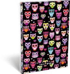 13400 - Füzet spirál A/4 kockás Lollipop Dark Owl 17304022