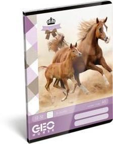12946 - Füzet tűzött A/5 3.o. GEO Horse Two 17511107