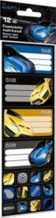 5603 - Füzetcímke matricával 12 db-os Geo Technic Yellow 15307502