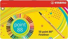 88/50-6 - STABILO point 88 tűfilc 0.4mm - 50 darabos exkluzív fémdobozos készlet