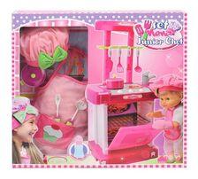 Bambolina Nena, a kis Kukta játék baba sztárkonyhával