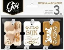 4975 - Ajándékkísérő masnis aranyozott 3db esküvő ma09