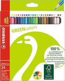6019/2-24 - STABILO GREENcolors színesceruza 24 db-os készlet