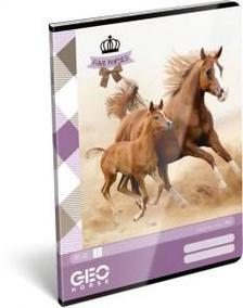 12913 - Füzet tűzött A/4 kockás GEO Horse Two 17309107