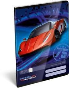 12962 - Füzet tűzött A/5 kockás Super Racecar Red Lightning 17511502