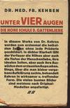 Fr. Kehren, dr. - Unter vier Augen [antikvár]
