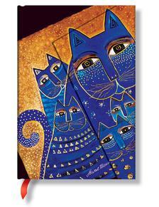 """- Paperblanks Butikkönyv Fantastic Felines""""Mediterranean Cats"""" MINI vonalas PB4784"""