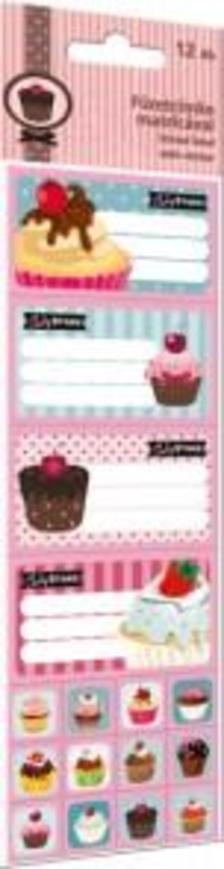 5600 - Füzetcímke matricával 12 db-os Candy Store Best 15314301