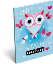 13575 - Notesz papírfedeles A/7 Lollipop Blue Owl 17316826