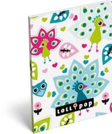 13577 - Notesz papírfedeles A/7 Lollipop Peacock 17316821