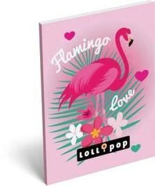13578 - Notesz papírfedeles A/7 Lollipop Pink Flamingo 17316828