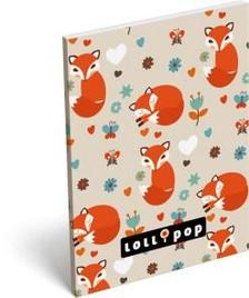 6859 - Notesz papírfedeles A/7 Lollipop Sleepy Fox 16316817