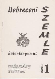 Gunst Péter - Debreceni szemle 1995/1. - Különlenyomat [antikvár]