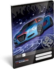 12973 - Füzet tűzött A/5 sima Super Racecar Blue Thunder 17512001