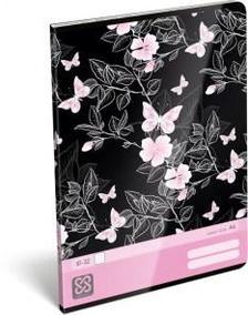 13100 - Füzet tűzött A/4 vonalas Cornell 36 Pink Butterfly 17361936
