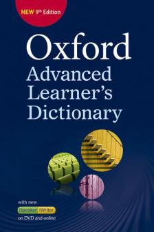 - OXFORD ADVENCED LEARNER'S DICTIONARY 9TH EDITION