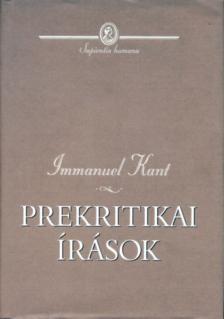 Immanuel Alapítvány - Prekritikai írások