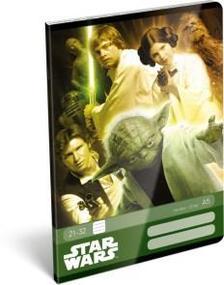 6965 - Füzet tűzött A/5 vonalas Star Wars Classic Yoda 16392505
