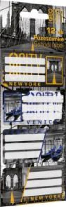 7766 - Füzetcímke 12 db-os GEO City Mix 16392605