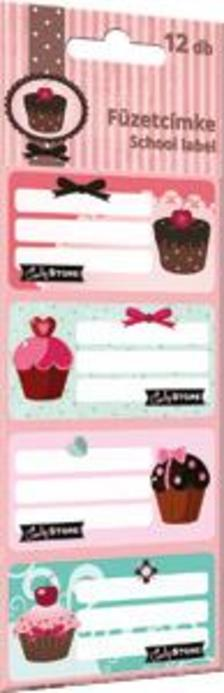 5565 - Füzetcímke 12 db-os Candy Store Best 15392701