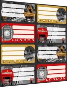 5586 - Füzetcímke íves Geo City London 15392901