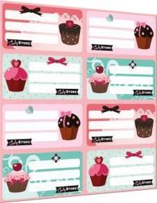 5583 - Füzetcímke íves Candy Store Best 15393001