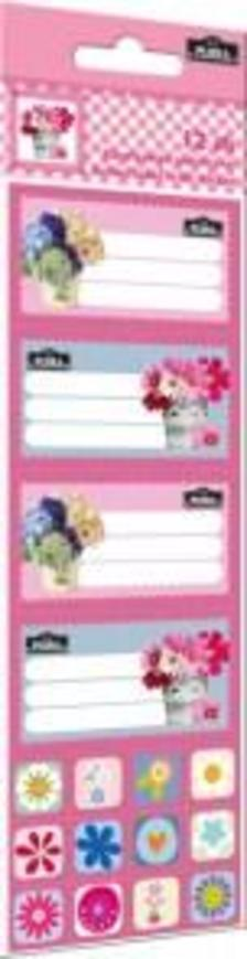 5602 - Füzetcímke matricával 12 db-os Geo Flora Pink 15393302