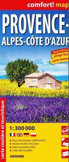 Expressmap - Provance, Alpok-Cote D'Azur Comfort térkép 1:300e Expressmap 2016