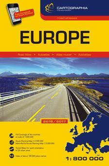 Hallwag - Európa autóatlasz 2016-2017 (kötött) 1:800.000