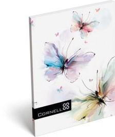 7558 - Notesz papírfedeles A/7 Cornell 34 Butterfly 16393613