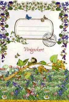 Virágos zsebnotesz - Virágoskert