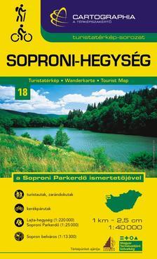 Cartographia Kiadó - SOPRONI-HEGYSÉG TURISTATÉRKÉP -