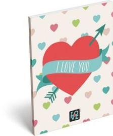 6842 - Notesz papírfedeles A/7 Love Hearts 16393805