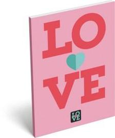 6844 - Notesz papírfedeles A/7 Love Pink 16393807