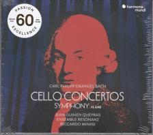 CARL PHILIPP EMANUEL BACH - CELLO CONCERTOS,CD