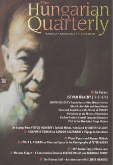 Krakkó Eszter - The Hungarian Quarterly Volume 53 Autumn 2013 [antikvár]